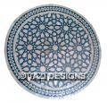 BLUE MOROCCAN MOSAIC TABLE 36 ZELLIJ FEZ