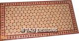 RECTANGULAR COFFEE TABLE - RED & NATURAL MOSAIC