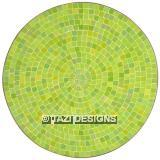 ROUND DINING TABLE - LIME GREEN