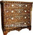 SYRIAN INLAID DRESSER - WALNUT MOORISH CHEST